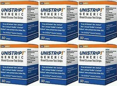 UniStrip Glucose Test Strips 300 ct, Generic For One Touch Ultra Strips