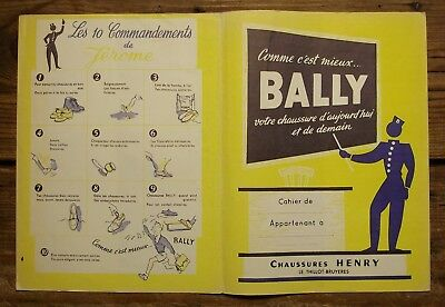 Ancien protège cahier publicitaire chaussures Bally