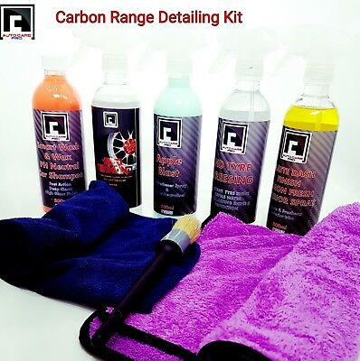 Car Valeting Detailing kit Interior Exterior Wash & Wax, Alloy & Dash Cleaner