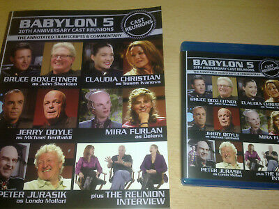 Babylon 5: Cast Reunion region free Blu-Ray with autographed book FREE SHIPPING