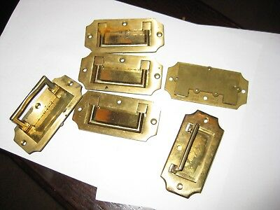 Old Brass  Fold  Flush Box Handles
