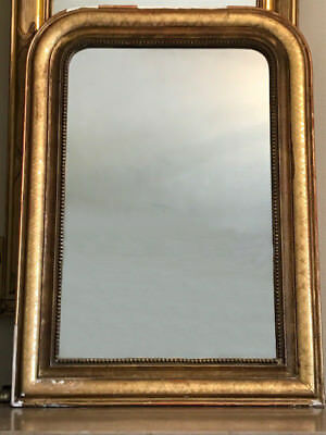 Beautiful  Antique French Gilded Louis Philippe Style Mirror