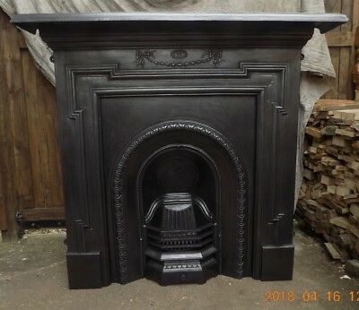 cast iron fireplace antique, victorian, edwardian, FREE GRANITE HEARTH