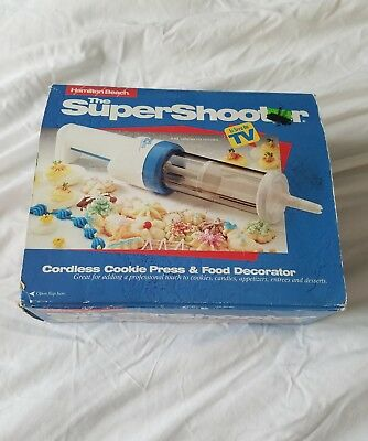 The Super Shooter Cordless Cookie Press & Food Decorator By Hamilton Beach
