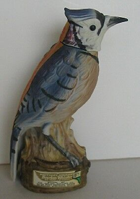 No. 2 Blue Jay Wisconsin Wildlife Series Jon-Sol Mini Decanter Japan 450/2400
