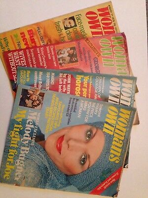 Vintage Womans Own Weekly Magazine x4 1970s (1976 Edition)