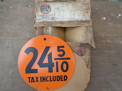 Gulf Gas  Price Sign 1920-1930 NOS BOX NOT INCLUDED