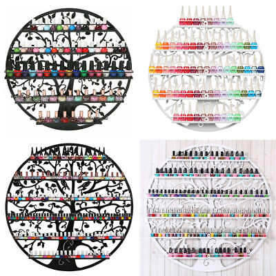 5/6Tier Metal Wall Mounted Nail Polish Stand Rack Organizer Shelf Display Holder