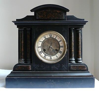 Antique Victorian Mantel Shelf Clock with 8 Day Junghans Movement Spares Repair