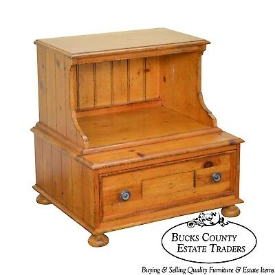Drexel Heritage Pinehurst Collection Rustic 1 Drawer Side Table of Nightstand