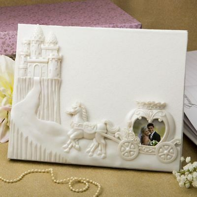 Royal Wedding Fairy Tale Design  Cinderella Themed Guest Book Horse and Carriage