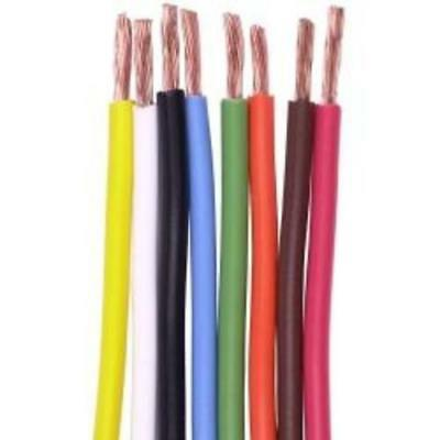 1m x 18AWG 20AWG 24AWG Tinned Copper Stranded Audio Hookup Wire - 10 colours