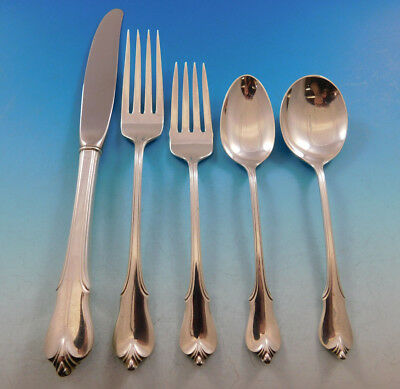 Grand Colonial by Wallace Sterling Silver Flatware Set Service 30 pieces