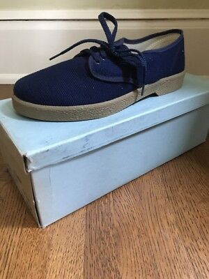 VTG NOS 8.5 Bata Bel-Mar Blue Canvas Shoe Deadstock 1960's USA