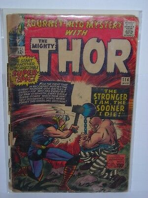 Journey into Mystery #114 (Mar 1965, Marvel) Thor Absorbing Man 1st appearance