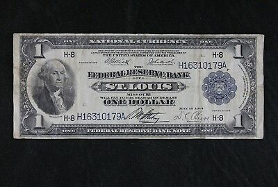 Rare $1 1918 Large Federal Reserve Note H16310179A Fr#732 KL#85, FREE SHIP.