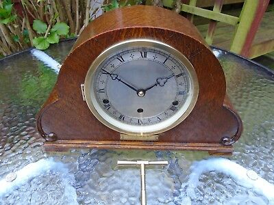 Elliott Outstanding Oak Cased Westminster Chime Mantle / Sideboard Clock