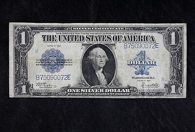 $1 1923 Horse Blanket Large silver certificate B75090072E one dollar FREE SHIP.