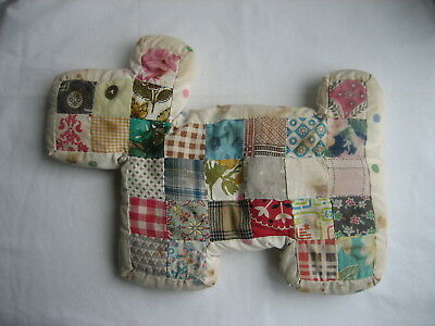 Vintage Handmade Quilted Stuffed Dog