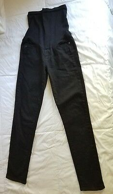 Paige Maternity Jean 28 Skinny Black Skyline Ankle Full Belly (Size 4-6 / Small)