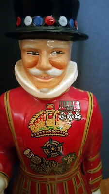 "Porcelain  Beefeater Gin Yeoman Ceramic Lamp NO RESERVE!  MANCAVE BABY! 32"" Tall"