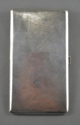 Old Antique Chinese Export Solid Silver Large Cigarette Case - Nr