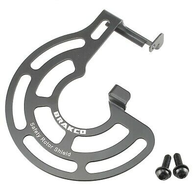 Bike Bicycle Rotor Shield Cover for Flat Mount Type Fork Front 140/160mm