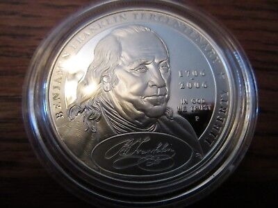 2006 P Benjamin Franklin Founding Father Proof Commem 90% Silver Dollar US Coin