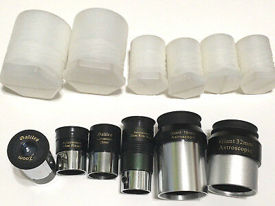 Galileo Telescope Lens Lot 26mm Wide-Angle Giant 32mm 18mm 10mm Plossl 25mm Zoom