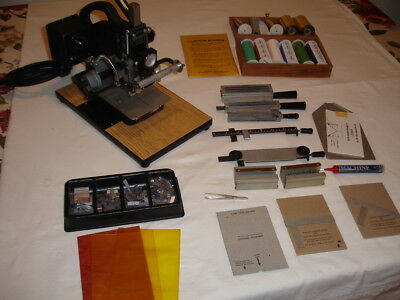 Kingsley Hot Stamping Machine Model M-101 Multi Line with Accessories Very Nice