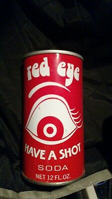 Cool Red Eye Soda Vintage Soda Can. Opened