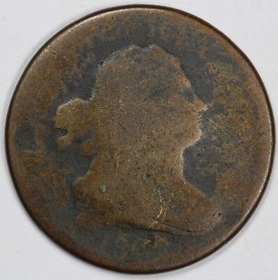 1807 1/2c Draped Bust Half Cent UNSLABBED