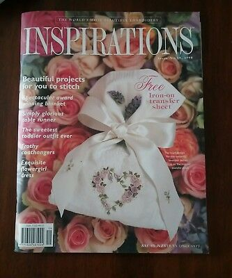 Inspirations The world's most beautiful embroidery-19 1998 book iron on transfer