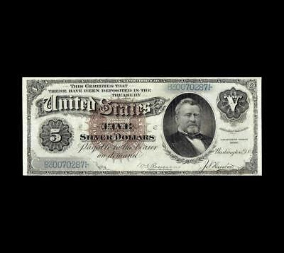Ultra Rare 1886 $5 Silver Certificate Strong Extra Fine+ Condition