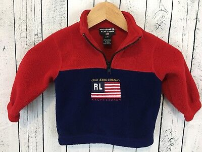 VTG 90s Polo Jeans Co Ralph Lauren Color Block Pullover Size 12-18 Months V1