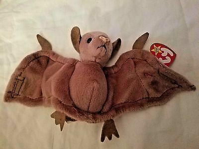 18274c19850 TY BATTY THE BROWN BAT Beanie Baby Babies - MINT with MINT TAG TY38 ...