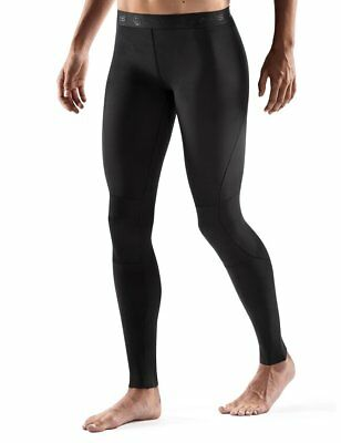 SKINS Women's RY400 Compression Recovery Tights, Black/Black, Large