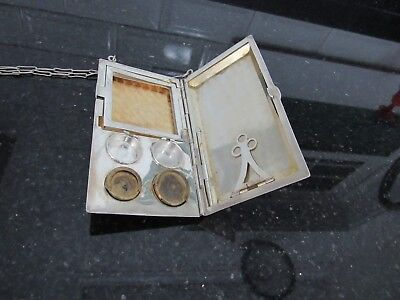 "Antique""FP STERLING""Money Holder Coins Card Case &pencil 1900s"