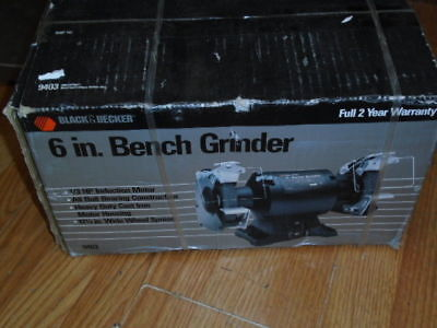 Groovy New Black Decker 6 Bench Grinder 1 3Hp 3500 Rpm 3 5A Pabps2019 Chair Design Images Pabps2019Com
