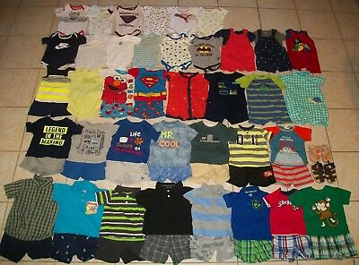 Baby Boys Clothes/Outfits/Bodysuits Lot of 61 Size 6-9/6-12 Months Summer