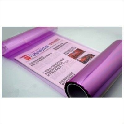 "12"" x 48"" Car Tint Headlight Taillight Fog Light Vinyl Smoke Film Sheet Purple"