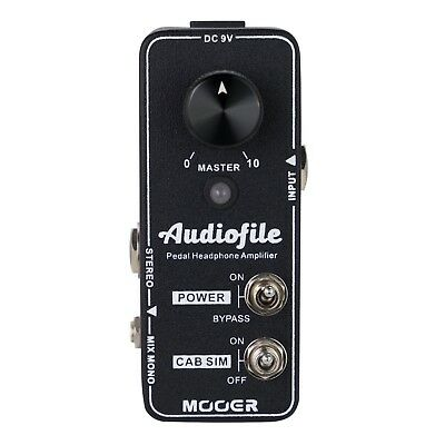 NEW Mooer Audiofile Headphone Amplifier Micro Analog True Bypass Pedal