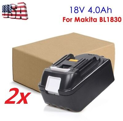 2 X 18V 4.0Ah Lithium Ion Battery Replace For Makita LXT BL1840 BL1830 BL1815 US