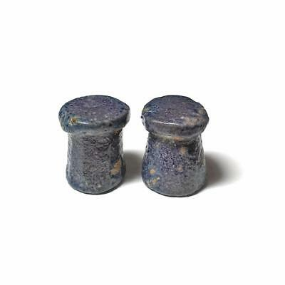 A Pair of Egyptian Faience Gaming Pieces, Amarna Period, ca 1352-1336 BC