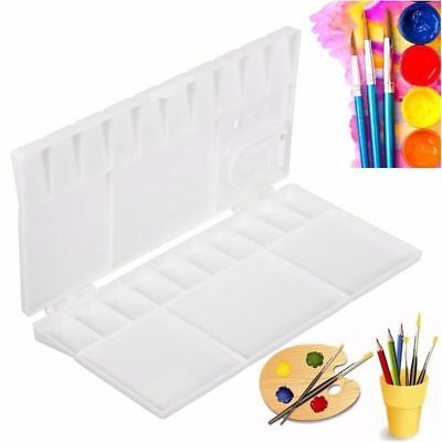 25 Grids Art Paint Drawing Tray Artist Oil Watercolor White Plastic Palette KU
