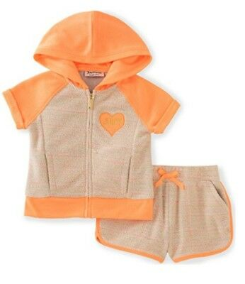 Juicy Couture Big Girls' 2 Piece Hoodie & Shorts Set Size 8/10
