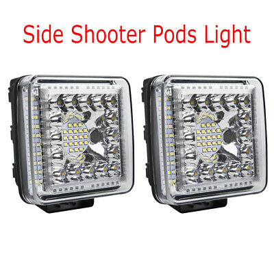 2x 7inch 720W LED Work Light Bar Spot Beam Offroad Cube Pods Lamp Truck Boat SUV