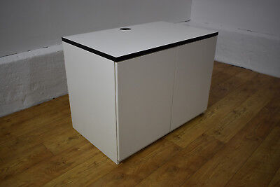 Beau TECHO White Office Printer Cabinet / Storage Unit W/ Cable Management 1000mm