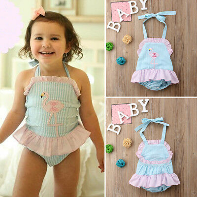 Cute Newborn Infant Baby Girl Romper Bodysuit Sunsuit Summer Clothes Outfits