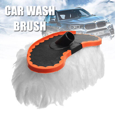 "11"" Car Wash Brush Soft Replace Mop For Vehicle Telescoping Handle Cleaning Tool"